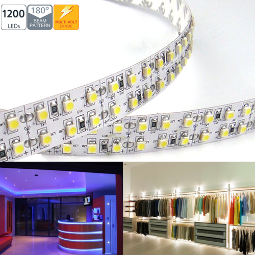 2NFS-3528SMD-24V series Double Row 1200 High Power LED Flexible Light Strip