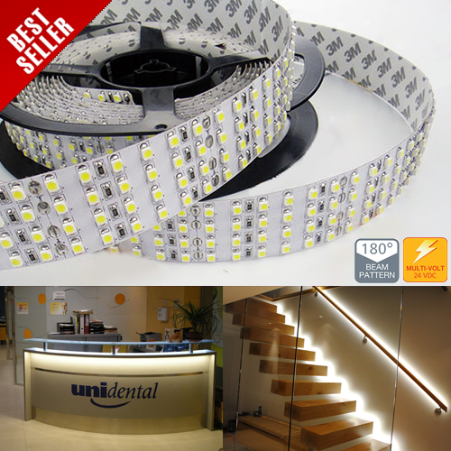 4NFS-x2250-24V series Quad Row High Power LED Strip Lights