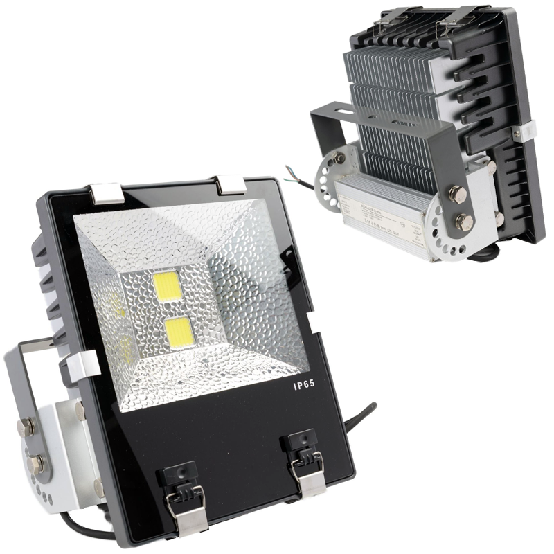 100W High Power LED Flood Light with Aluminium Heat Sink in IP65 for Outdoor Use