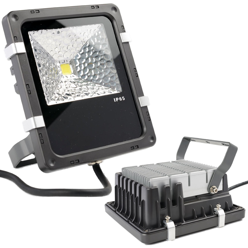 50W High Power LED Flood Light with Aluminium Heat Sink in IP65 for Outdoor Use