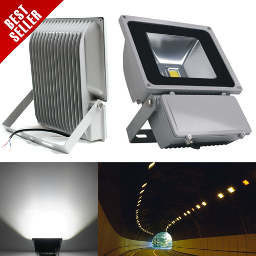100W IP65 Aluminium High Power Outdoor LED Flood Light Bulbs