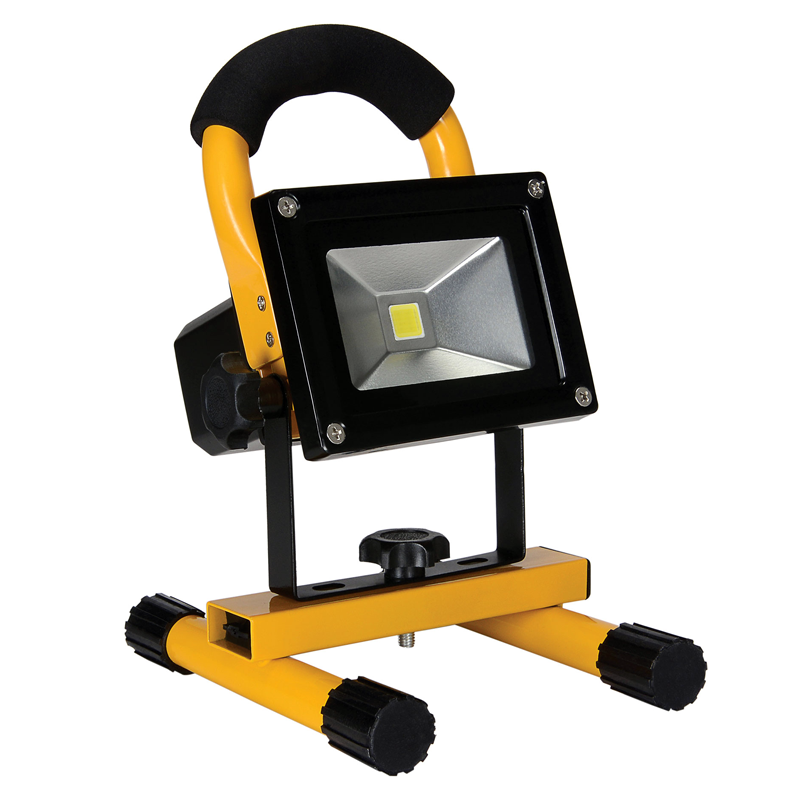 Portable 10W COB Type Super Bright LED Work Light Rechargeable Flood Light Lamp
