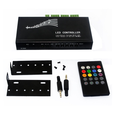 20Key Infrared Music LED Controller+Remote Control Functions - 12~24 Volt DC