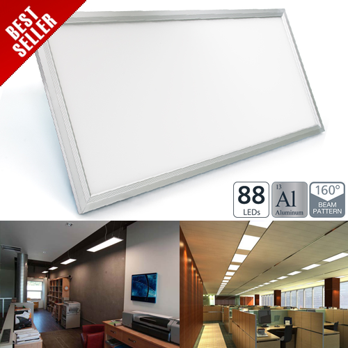36W LED Panel Light Fixture - 1ft x 2ft