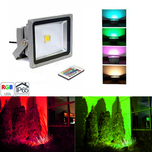 High Power 50W RGB LED Flood Light Fixture with Remote