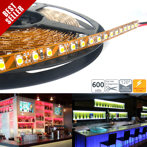 High Power LED Flexible Light Strip - 120 LEDs per meter