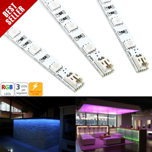 RL-RGB30 series Narrow Rigid Light Bar w/ High Power 3-Chip RGB LEDs
