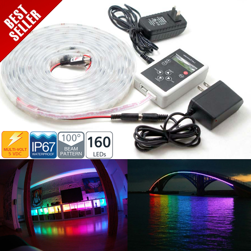 Dream Color RGB 160 LEDs Flexible Light Strip kit