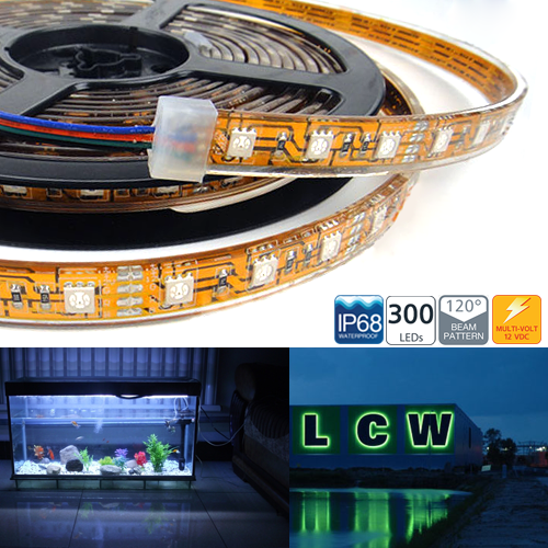 WFLS-XX3 series Waterproof 300 High Power LED Flexible Light Strip Reel - IP68